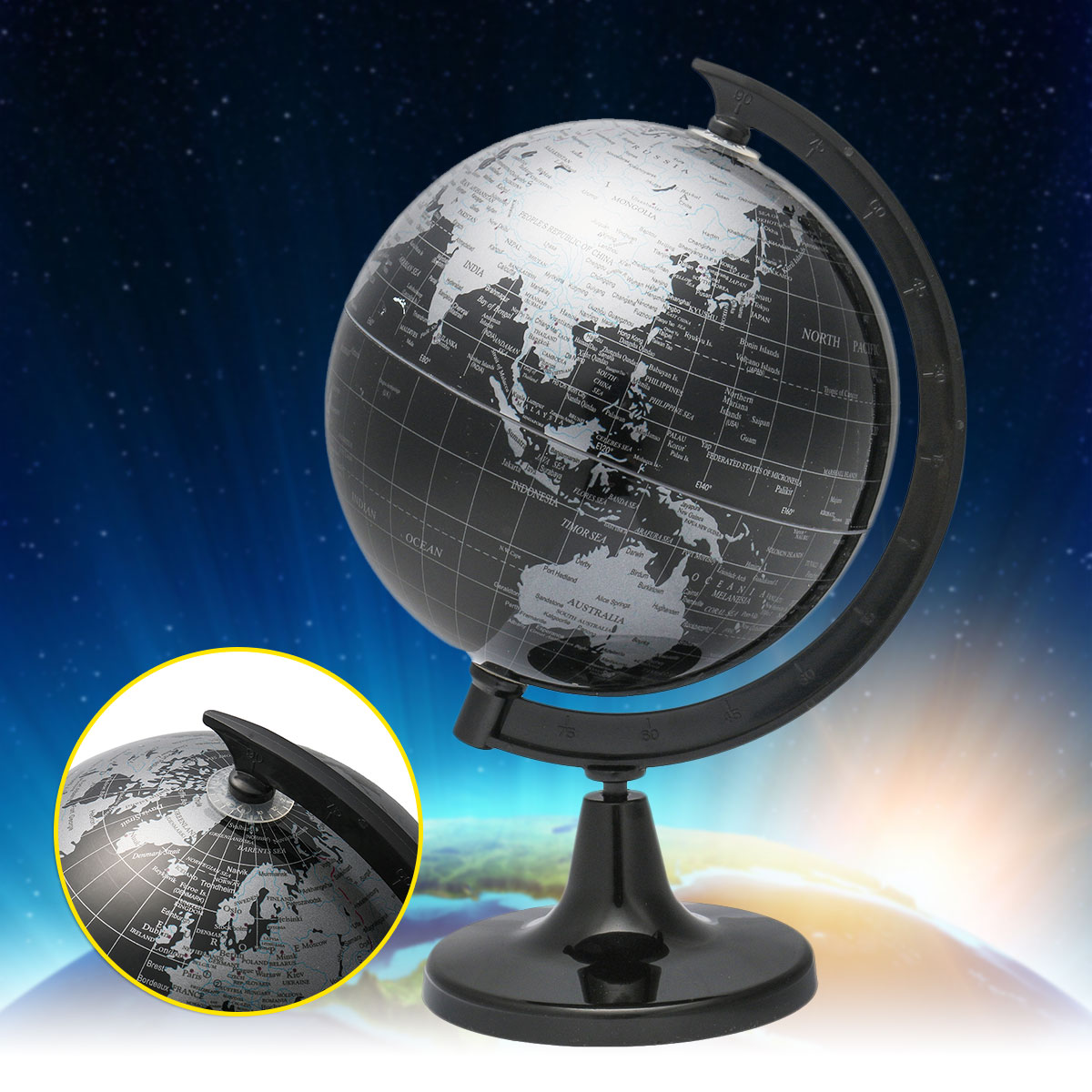 1pcs rotating globes earth ocean globe world geography map home
