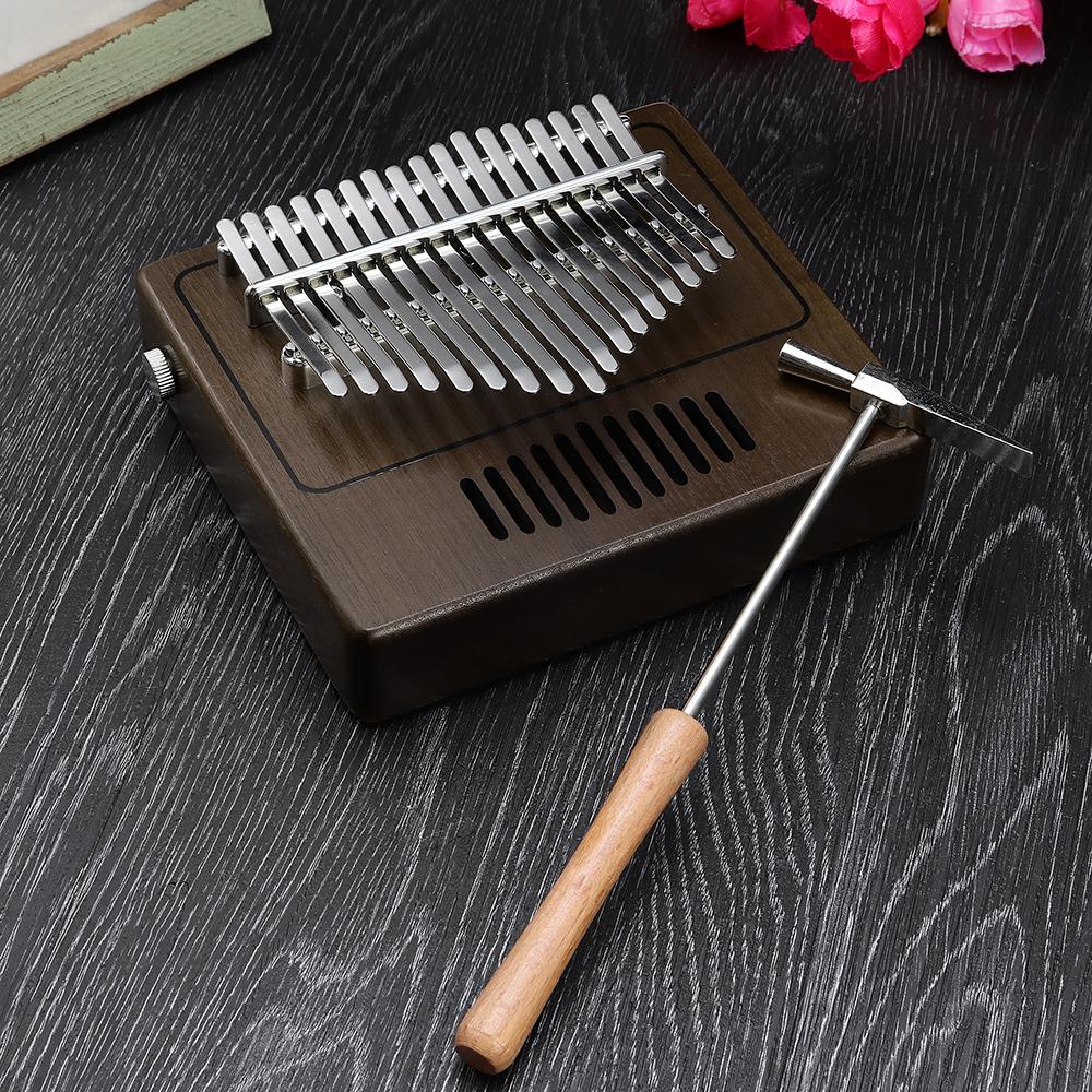 17 keys Portable Kalimba Retro Radio Modeling Thumb Piano Finger Percussion With Piano Bags