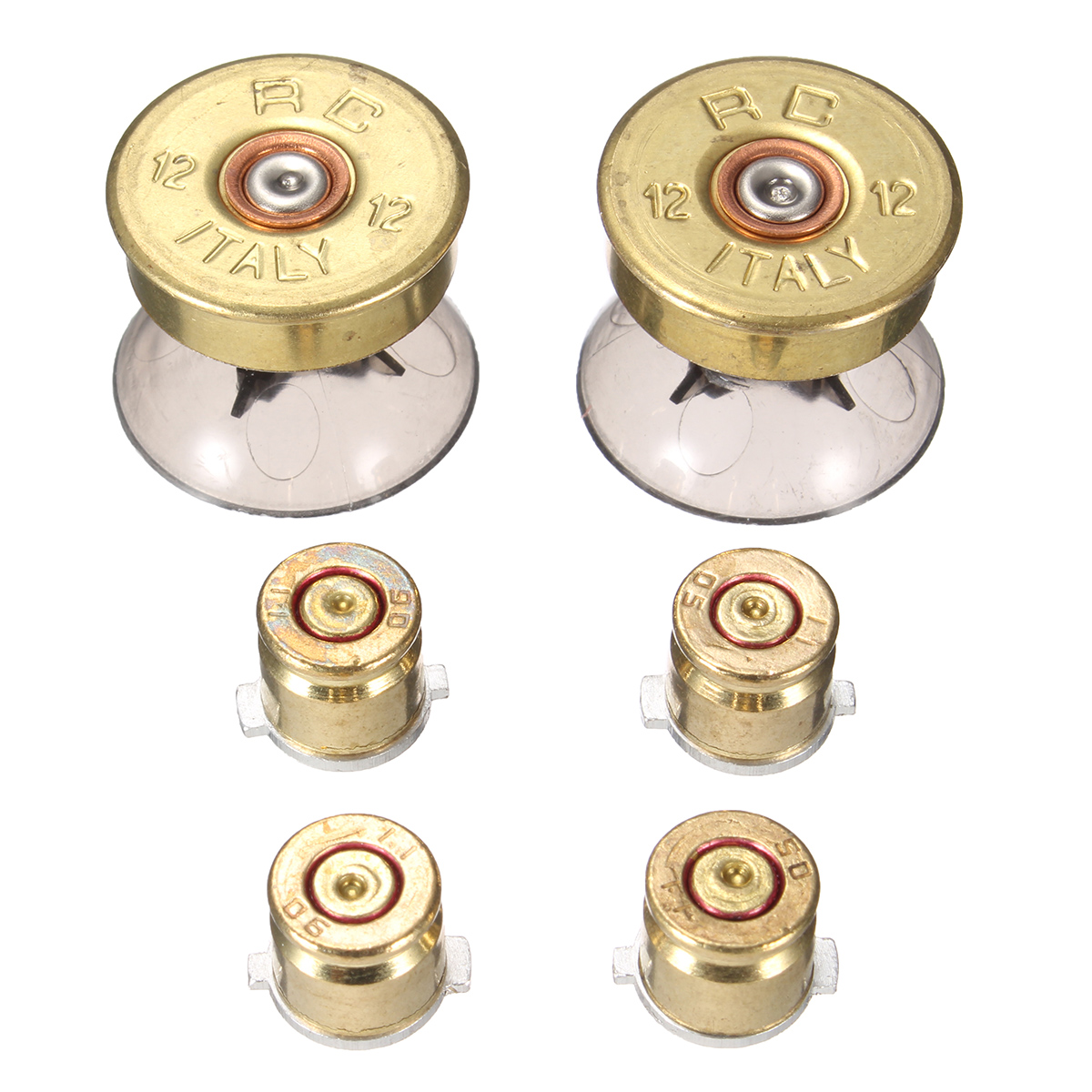 A Set Replacement Metal Bullet Buttons Thumbstick Cap Joystick Cover For Play Station 4 For PS4