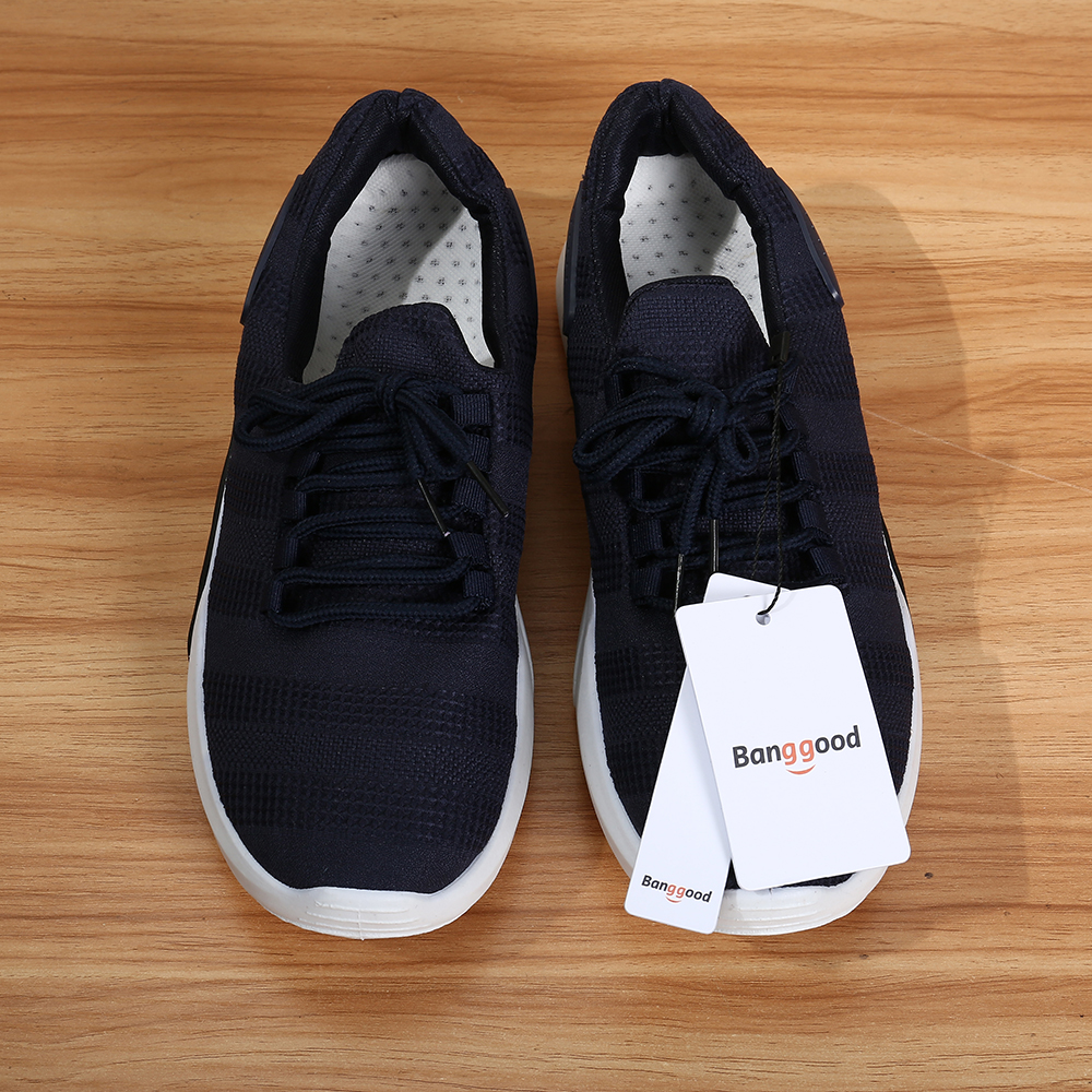 Bang good Men Knitted Athletic Breathable Sports Sneakers