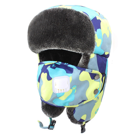 Men Women Winter Warm Lei Feng Caps Outdoor Thick Ski Windproof Hat With Breathing Valve