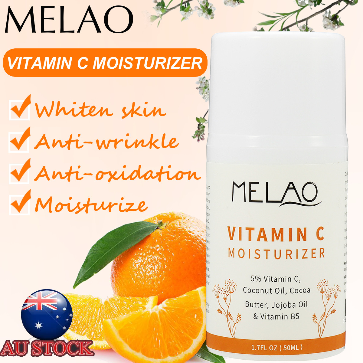MELAO Vitamin C Cream L-VC Collagen Moisturizing