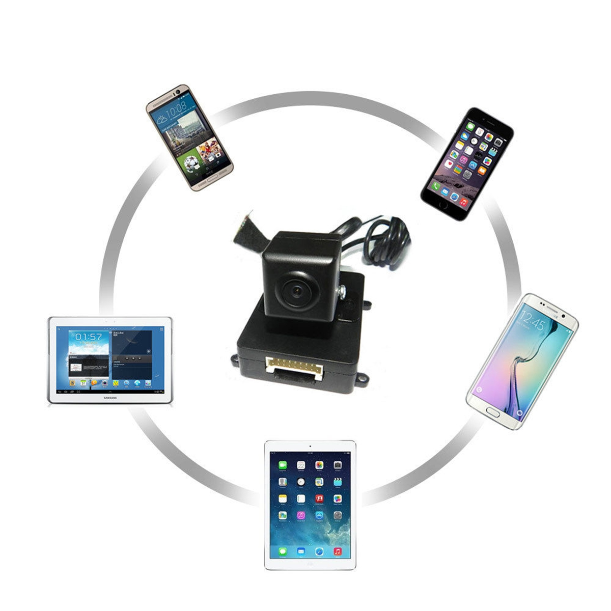 WiFi in Car Wireless Rear View Camera Backup Reversing for iPhone Android ios