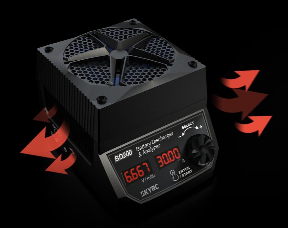 SkyRC BD200 200W 30A Battery Discharger & Analyzer For LiPo LiFe LiHV NiCd NiMH Pb Battery