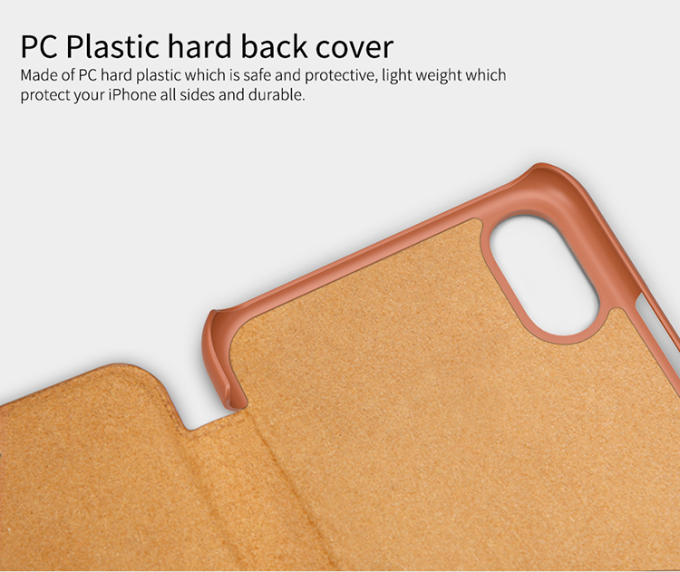 NILLKIN Flip Card-slot PU Leather Hard PC Protective Case Cover for iPhone XS/X