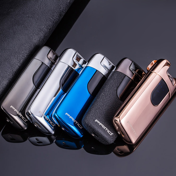 Double Dual Arc Electric Lighter Fingerprint Touch USB Recahrageable Windproof Flameless Lighter