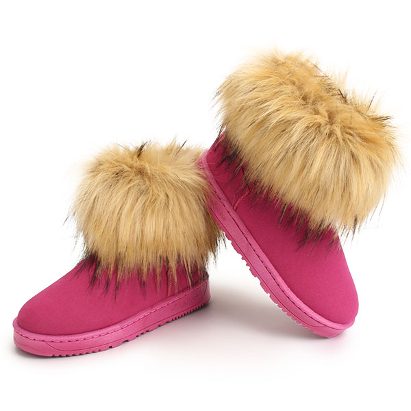 Women Snow Boots New Keep Warm Plush Fashion Ankle Short Boots Suede Flats Boots