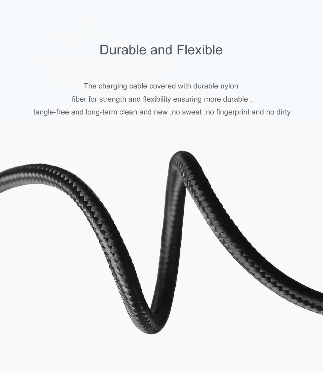 Original Xiaomi Xingka 2.4A 2 in 1 Lightning Micro USB Fast Charging Data Cable for iPhone X XR Xs for iPad Pro