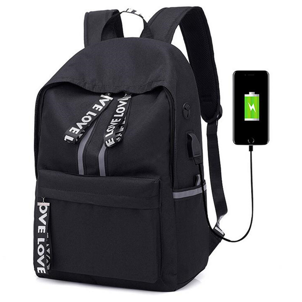 20L USB Backpack 15inch Laptop Bag Waterproof Camping M