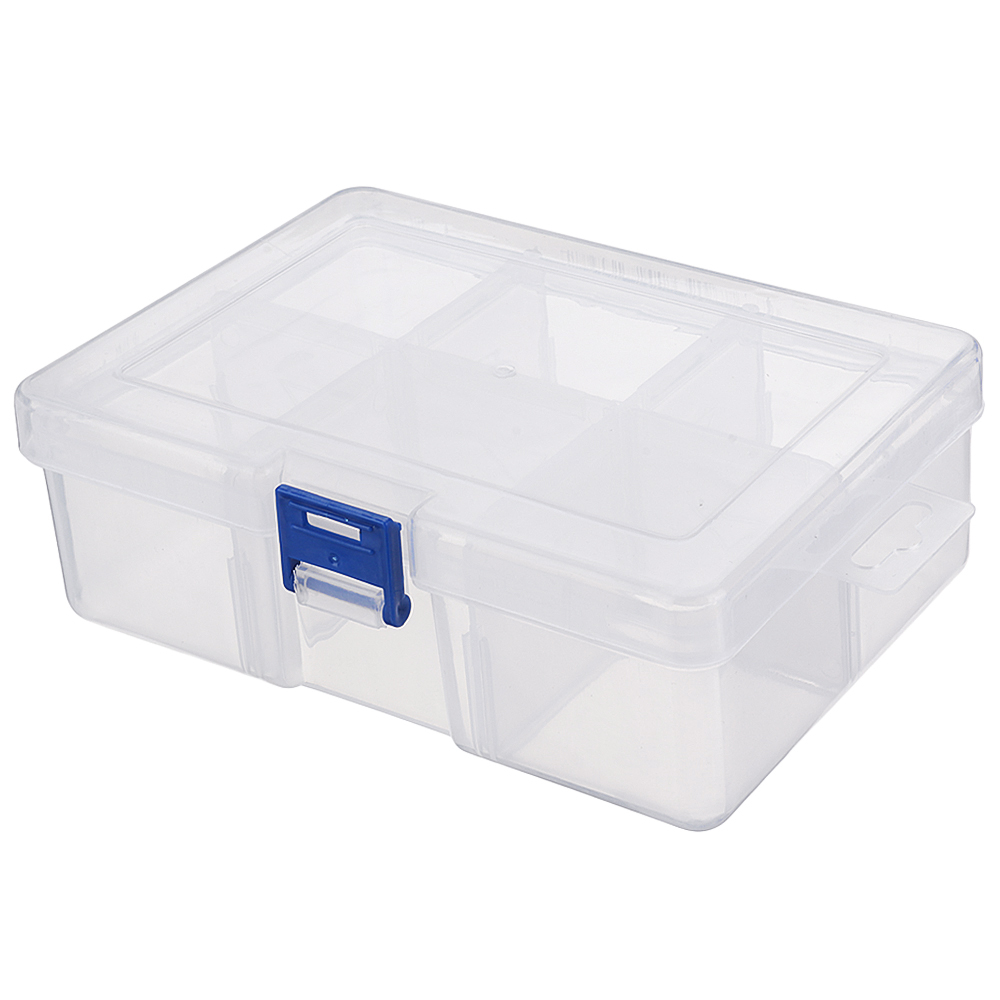 Plastic Compartment Storage Parts Organizer Container Adjustable Divider Grid Jewelry Craft Box Case