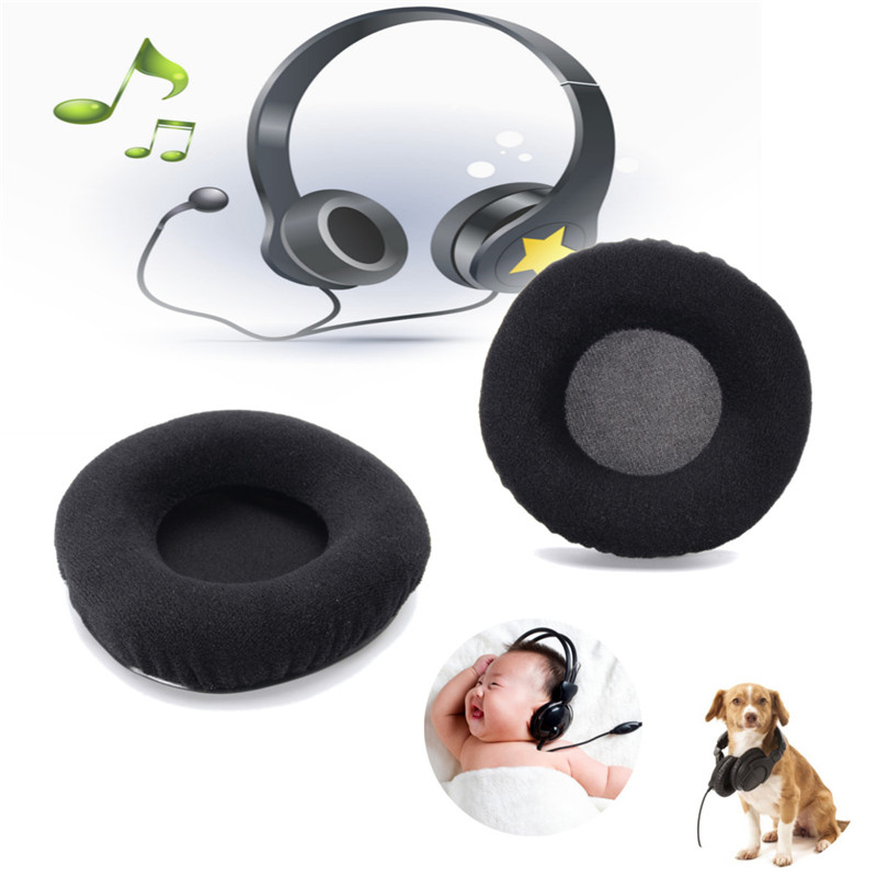 Black Replacement Velour Earpads Cushion for JBL Synchros E50BT E50 BT Headphone Headset