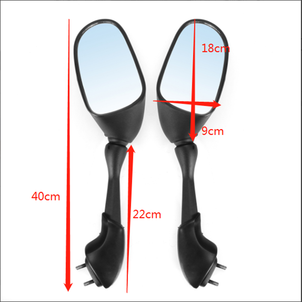 Motorcycle Side Rear Mirrors Balck Fit For Yamaha FZ1 FZS1000 2001-2005