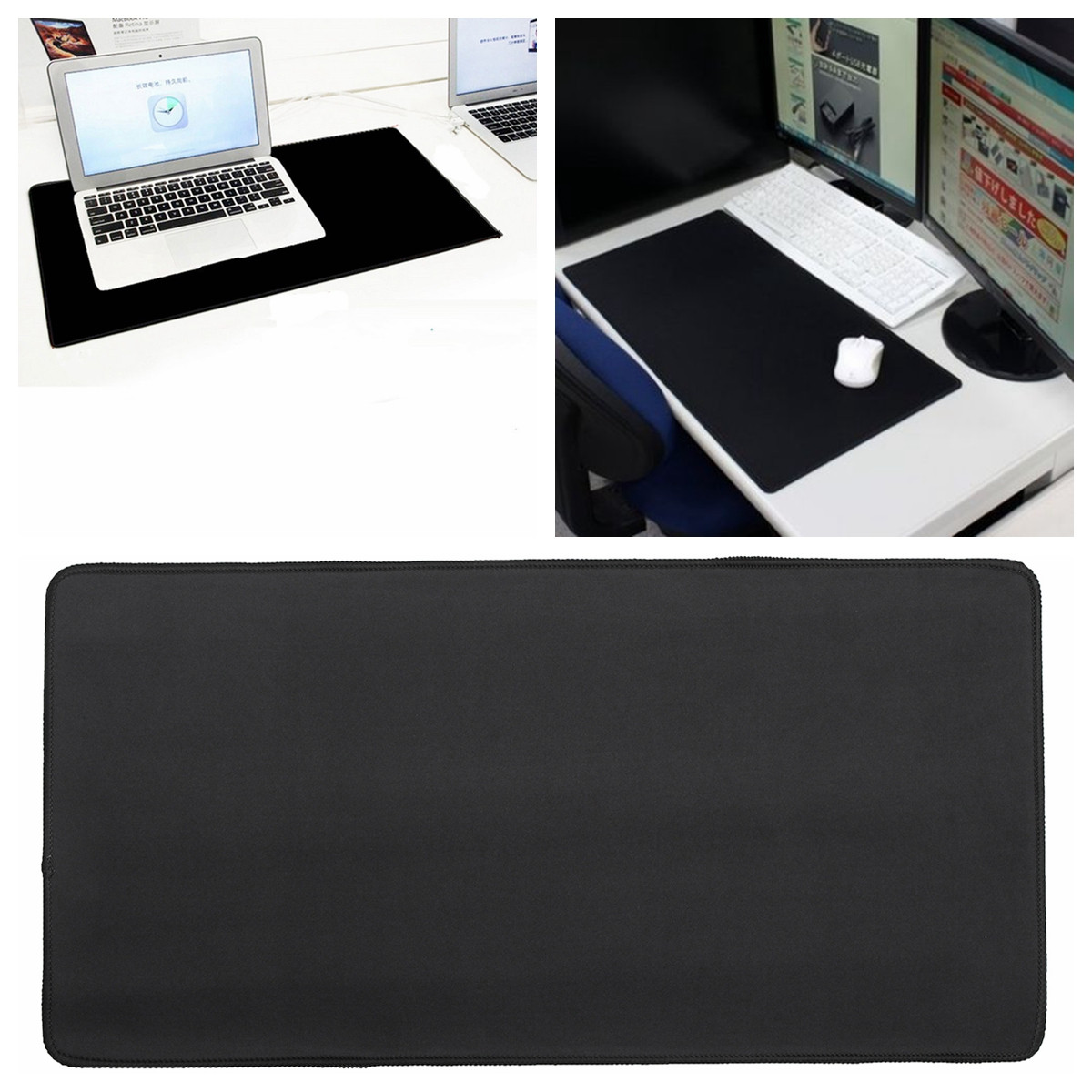 300x600x2mm Anti-Slip Large Rubber Mouse Pad Mat For Desktop Laptop PC