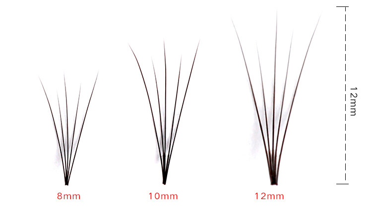 5D Black 8/10/12mm False Eyelash Individual Eyelashes Cluster Kit