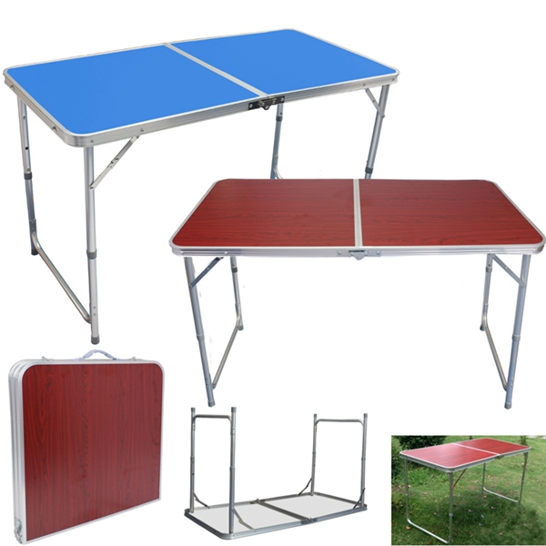 Aluminium Adjustable Folding Table Outdoor For Camping