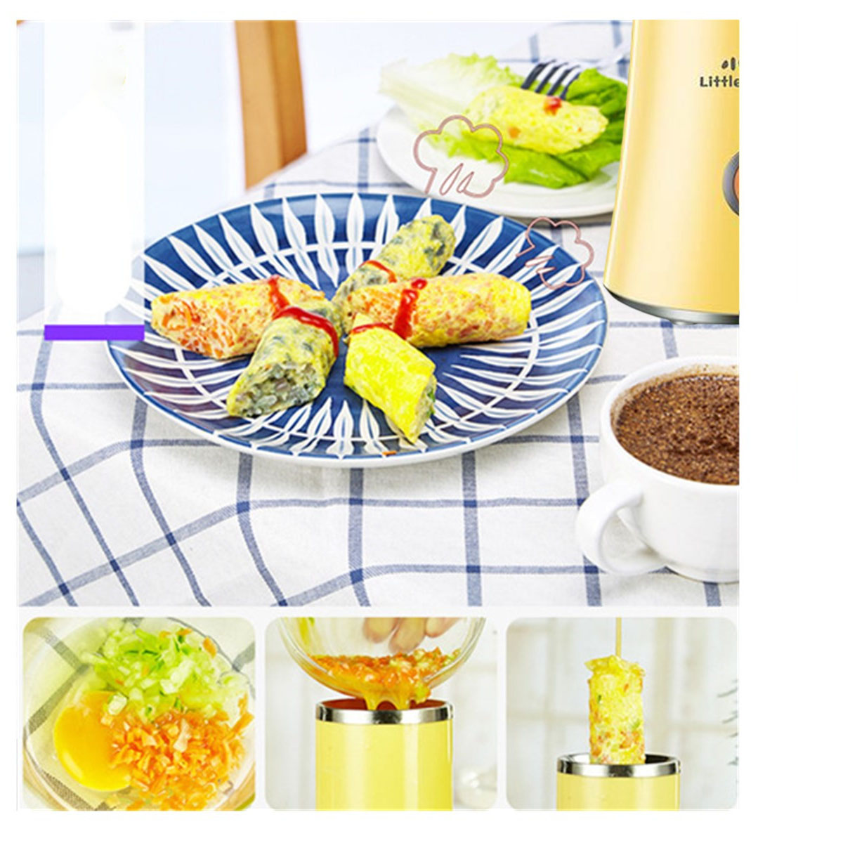 Electric Eggroll Maker Egg Roll Boiler Omelette Sausage Frying Cooking Tools Egg Boiler CN Plug