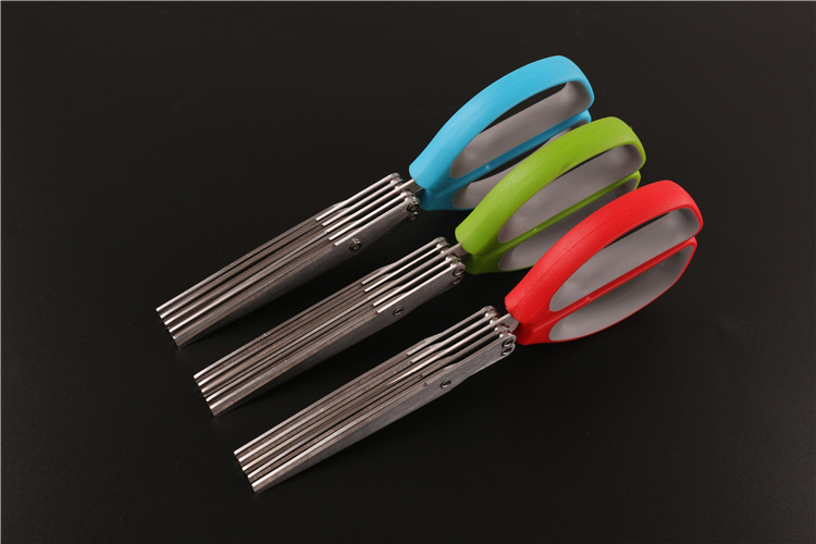 Kitchen Five Layers of Multilayer Stainless Steel Scissors Cut Green Onion Mince Coriander Laver