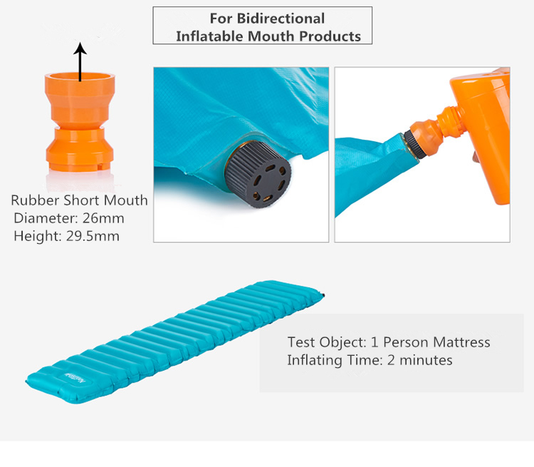 Naturehike Portable Pump Multifunction Air Compressor for Inflatable Sleeping Pad Camping Mattress