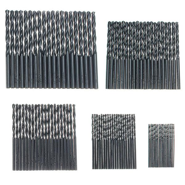 100pcs HSS High Speed Steel Twist Drill Bit Set 1mm-5mm (1mm/2mm/3mm/4mm/5mm)
