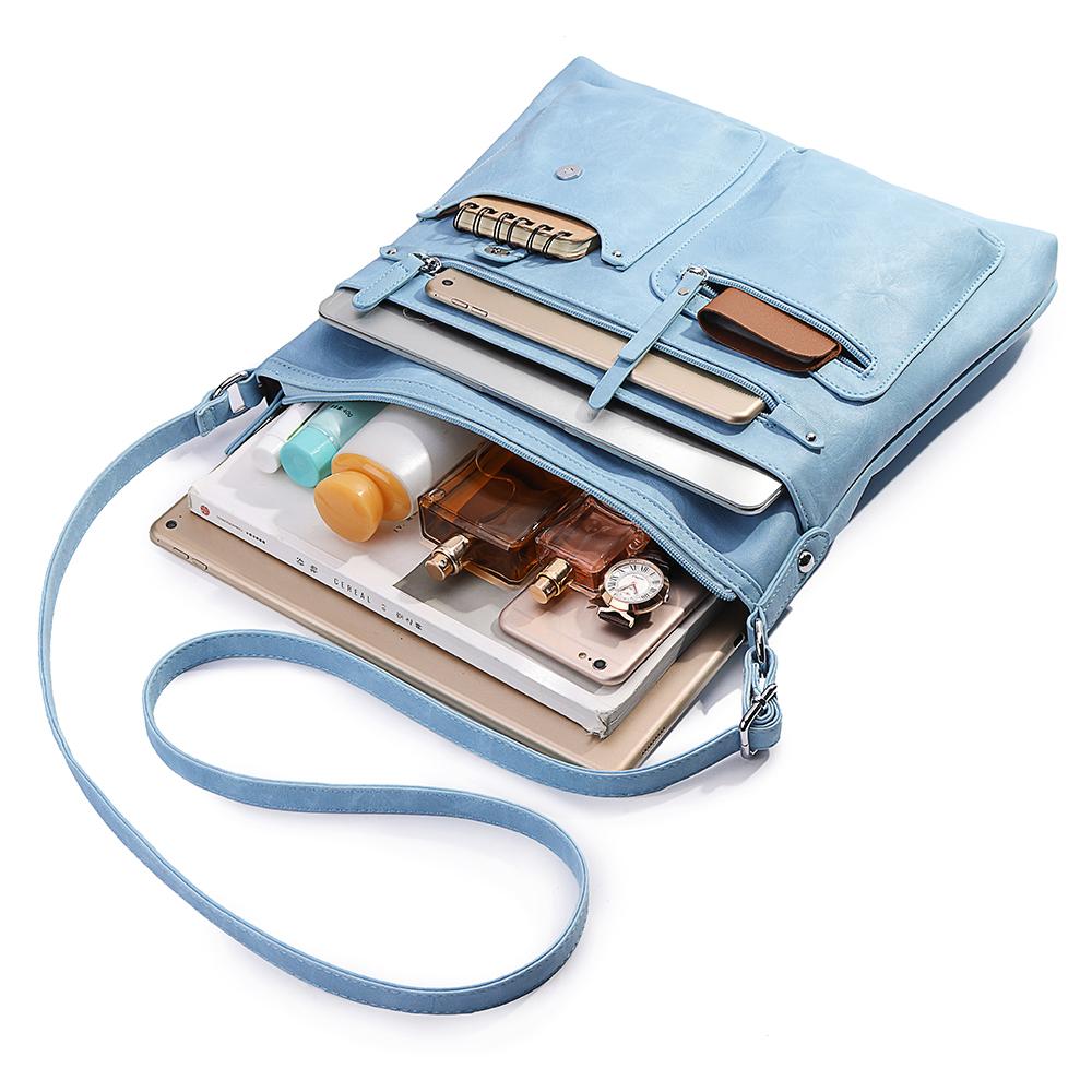 Brenice Women Faux Leather Multi-pocket Shoulder Bag Handbag