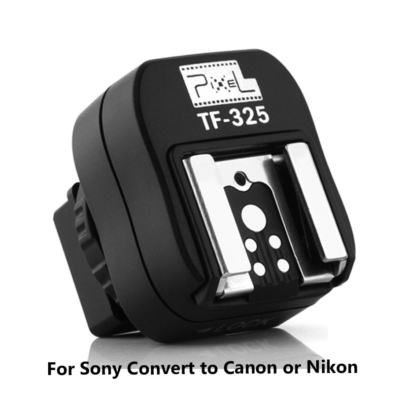 Pixel TF-325 Hot Shoe Adapter Converter to PC Sync Socket for Sony Alpha Minolta Konica