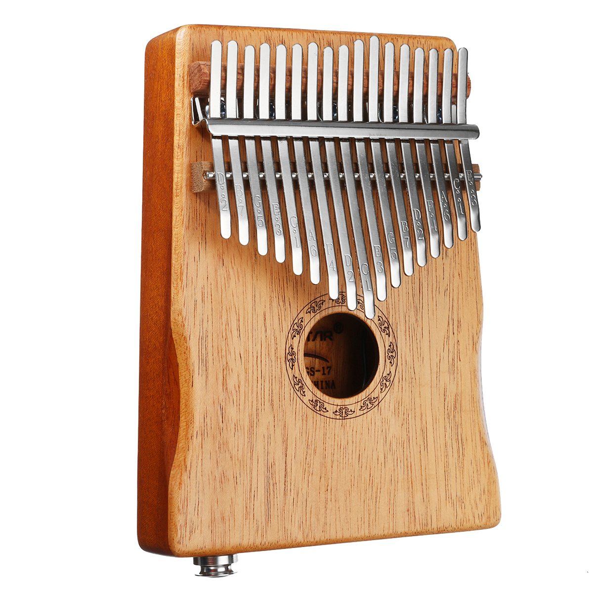 17 Keys EQ Mahogany Kalimba Thumb Finger Piano with Bag Set