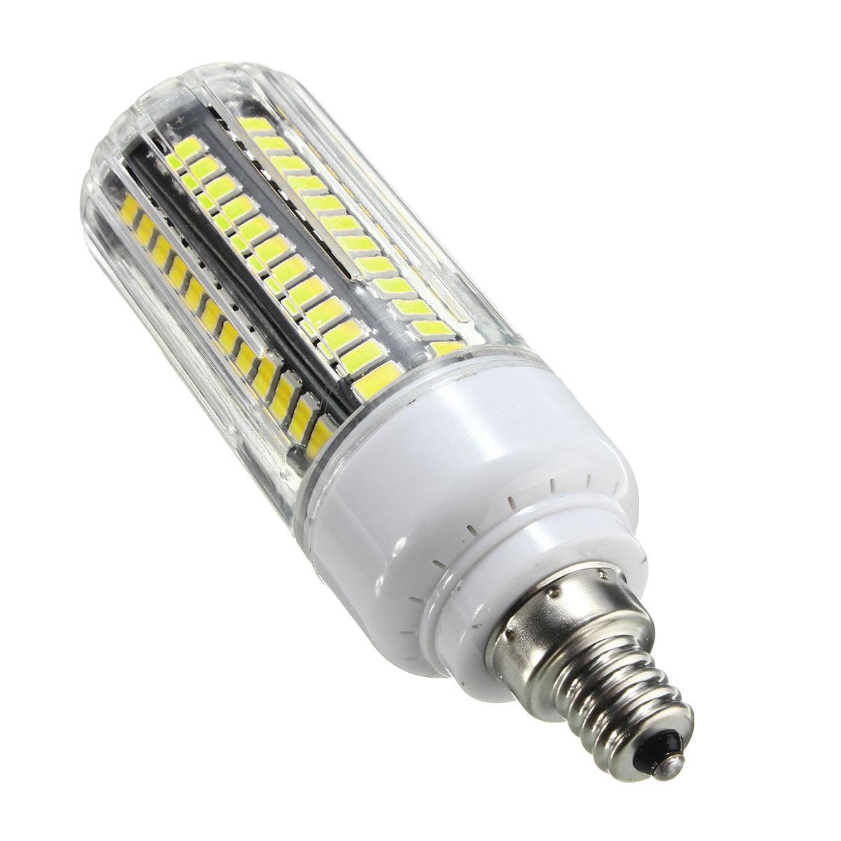 E14 E12 B22 GU10 G9 E27 LED 9W 105 SMD 5730 Warm White White Fire Cover Corn LED Bulb Light AC220V
