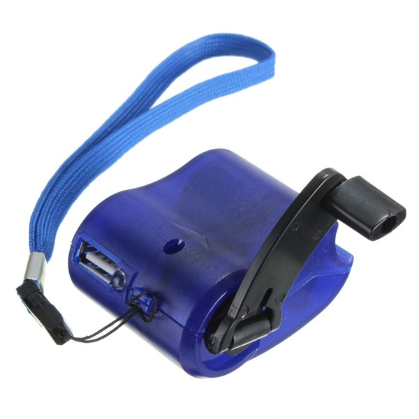 USB Hand Power Dynamo Torch Hand Crank USB Emergency Charger for Mobile Phone MP3/4 Outdoor Hiking Gadget