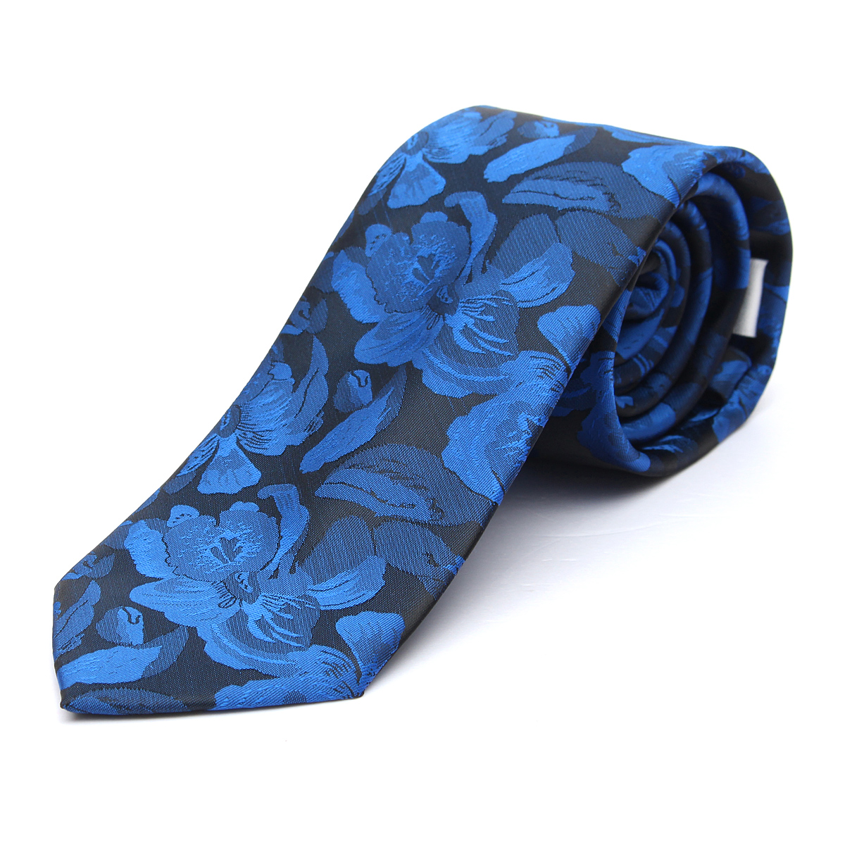 Men Polyester Silk Flower Pattern Tie Sagittate Necktie Wedding Party Suit Accessories