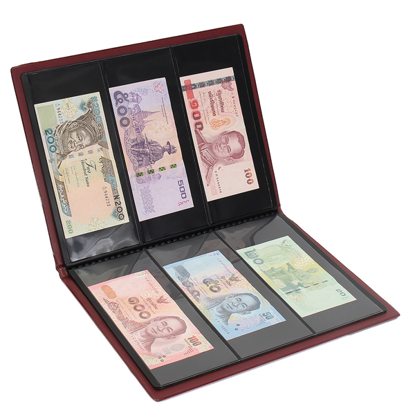 60 Paper Money Note Holders Collection Collecting Storage Pockets Album Book