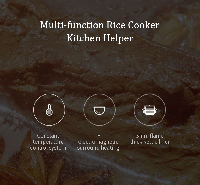 XIAOMI Mijia IH IHFB02CM 4L 1430W Smart Electric Rice Cooker Non-stick Cooker APP Control IH Heating Cooker