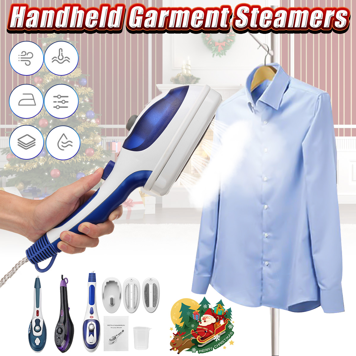 220V 800W Portable Handheld Garment Steamers Mini Electric Steam Iron Machine For Home Travelling