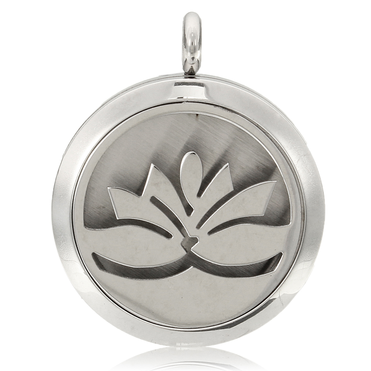 Stainless Steel Locket Necklace Perfume Aromatherapy Essential Oil Aroma Diffuser