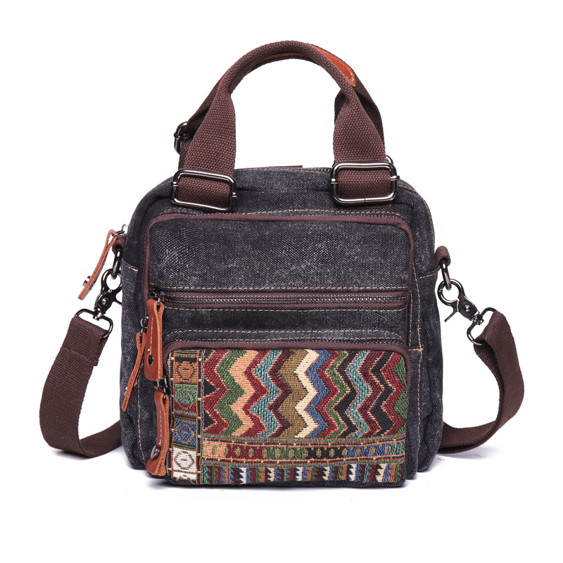 Brenice Bohemia Canvas Handbags Vintage Backpack