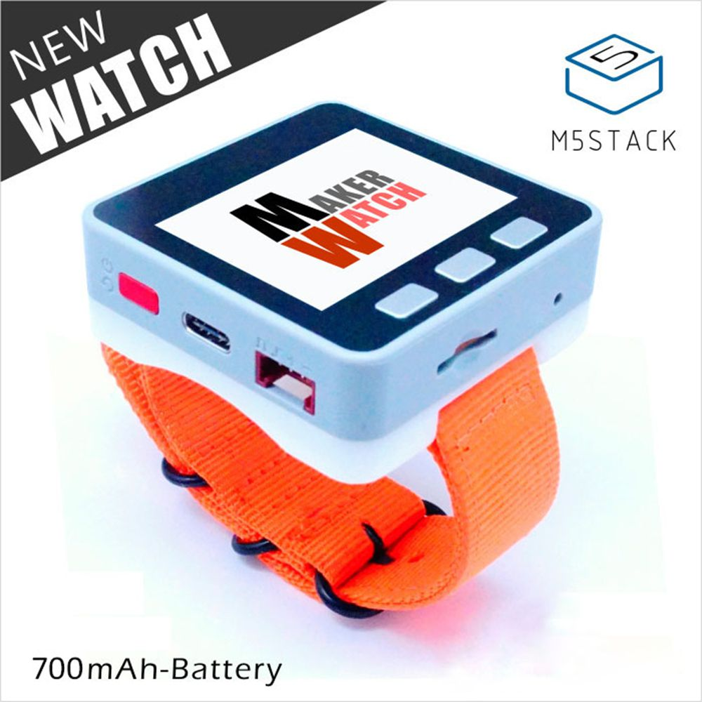 M5Stack® Multi-function Watch with 700mAh Battery for Arduino Micropython ESP32 Core Smart Programmable Watch with Band