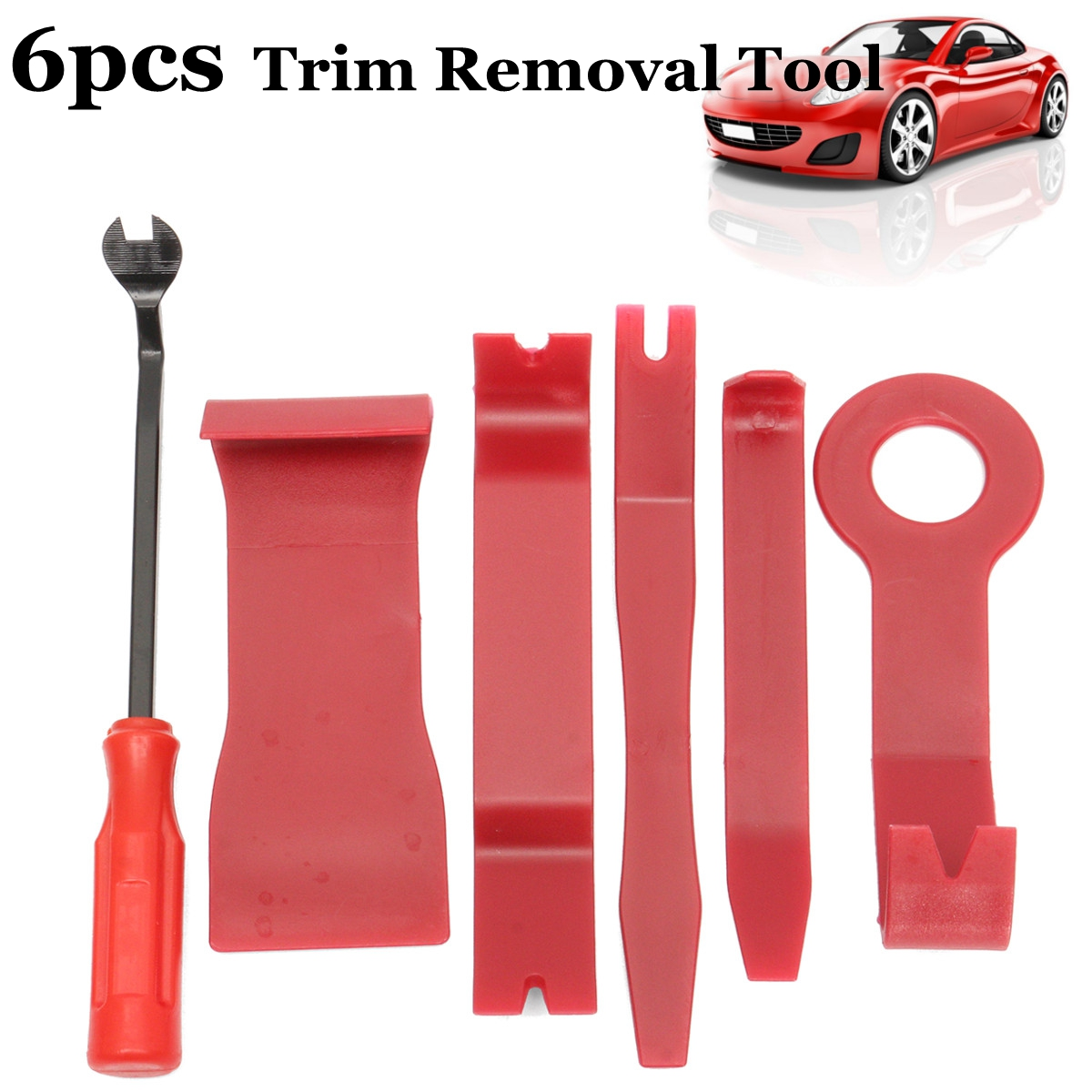 6PCS Car Radio Audio Stereo Door Trim Dash Panel Install Removal Pry Tool Kit
