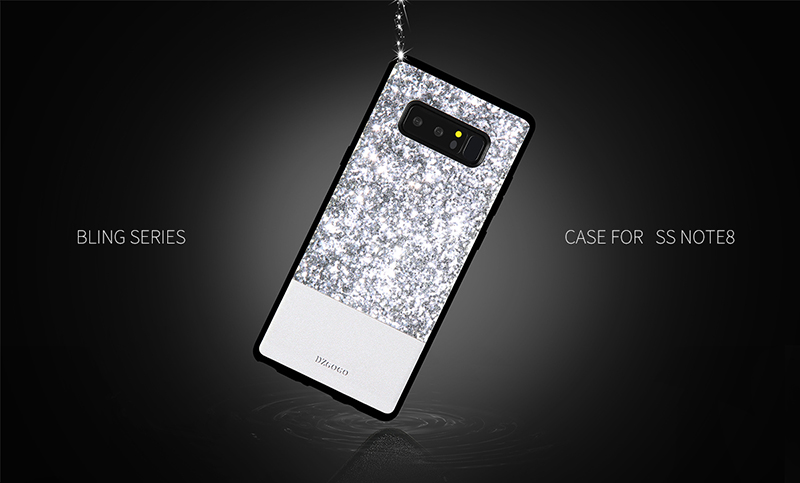 DZGOGO Diamond Bling PU Leather Protective Case for Samsung Galaxy Note 8