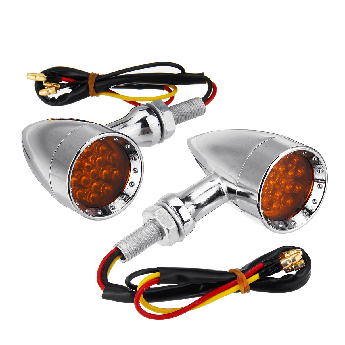New 12v Universal Motorcycle Bullet Turn Signal Indicator Manual Guide
