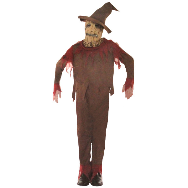 Horrible Pumpkin Scarecrow Adults Cosplay Costumes for Halloween Festival Party Anime Role Playing