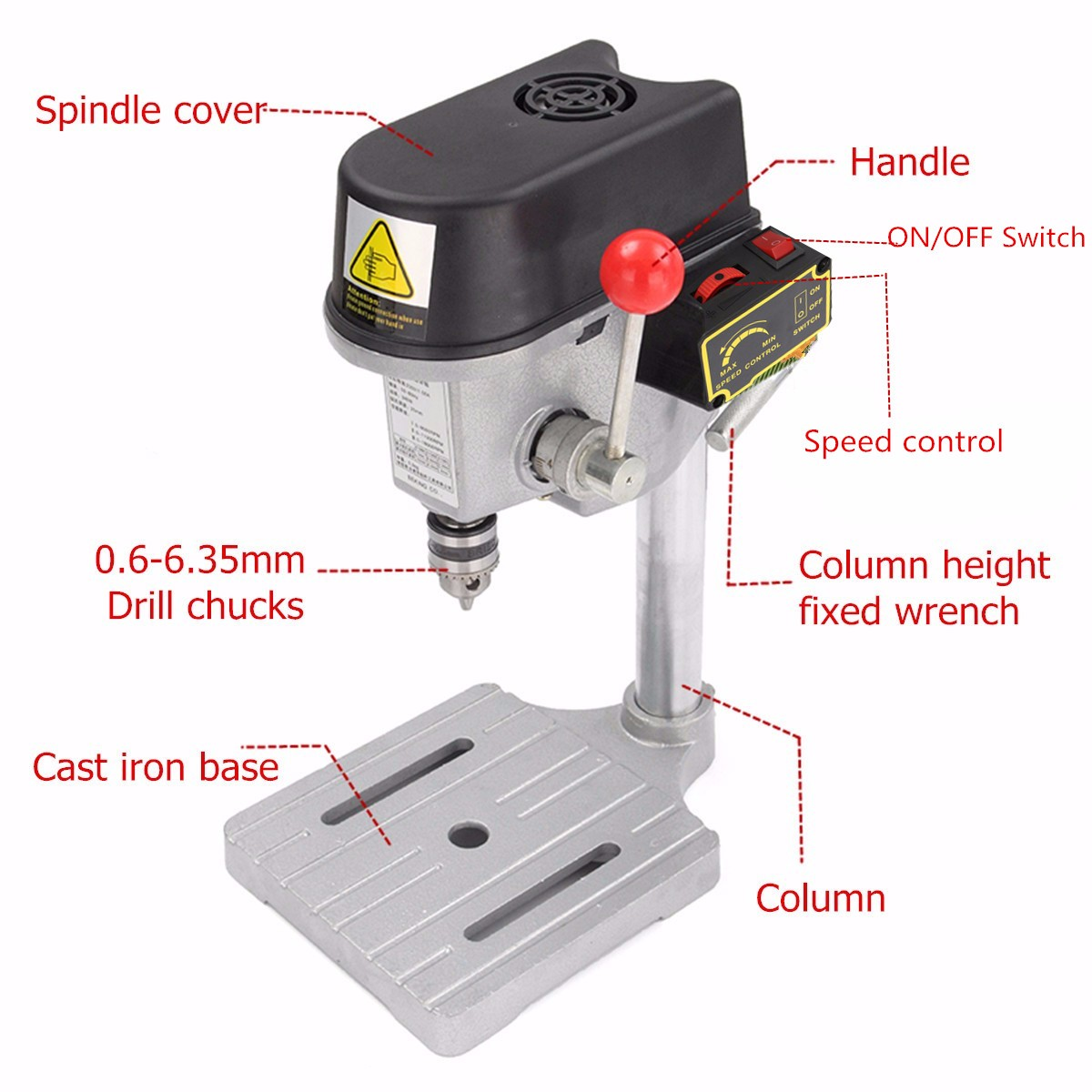 Drillpro 220V 340W Electric Drill Stand Mini Table Top Bench Drill Stand Holder DIY Bracket Fixed Frame