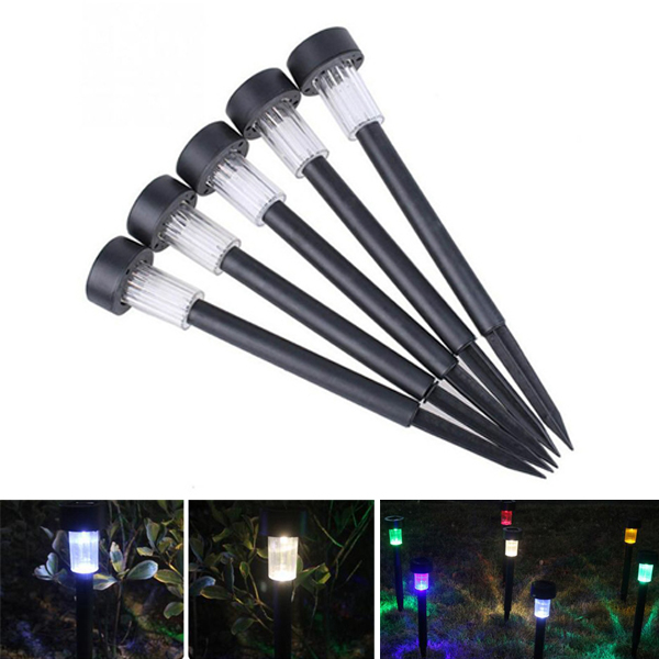 Solar Powered Plastic LED Lawn Light Waterproof Outdoor Garden Landscape Yard Path Lamp