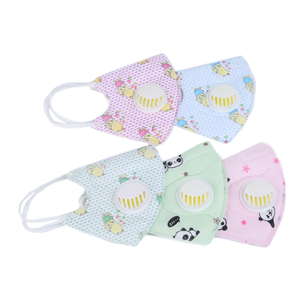 Honana 3PCS Cartoon Children PM2.5 Face Mask Kids Breath Valve Anti Haze Breathable Mask Anti Dust Mouth-muffle Respirator