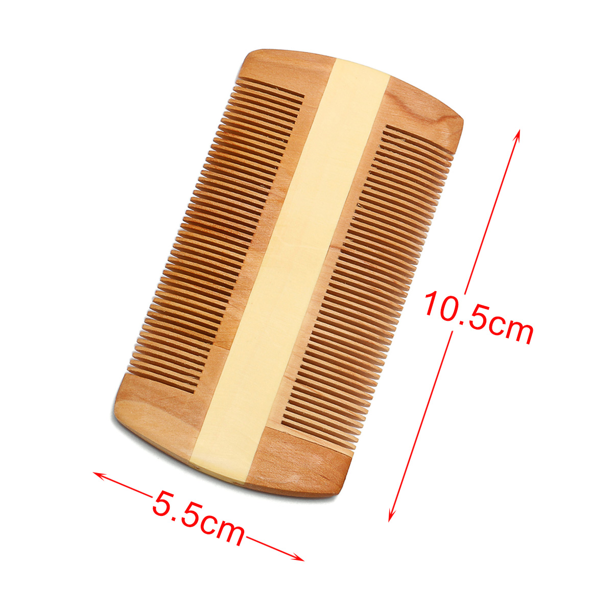 Anti-static Natural Wood Beard Mustache Brushing Comb Pocket Brush
