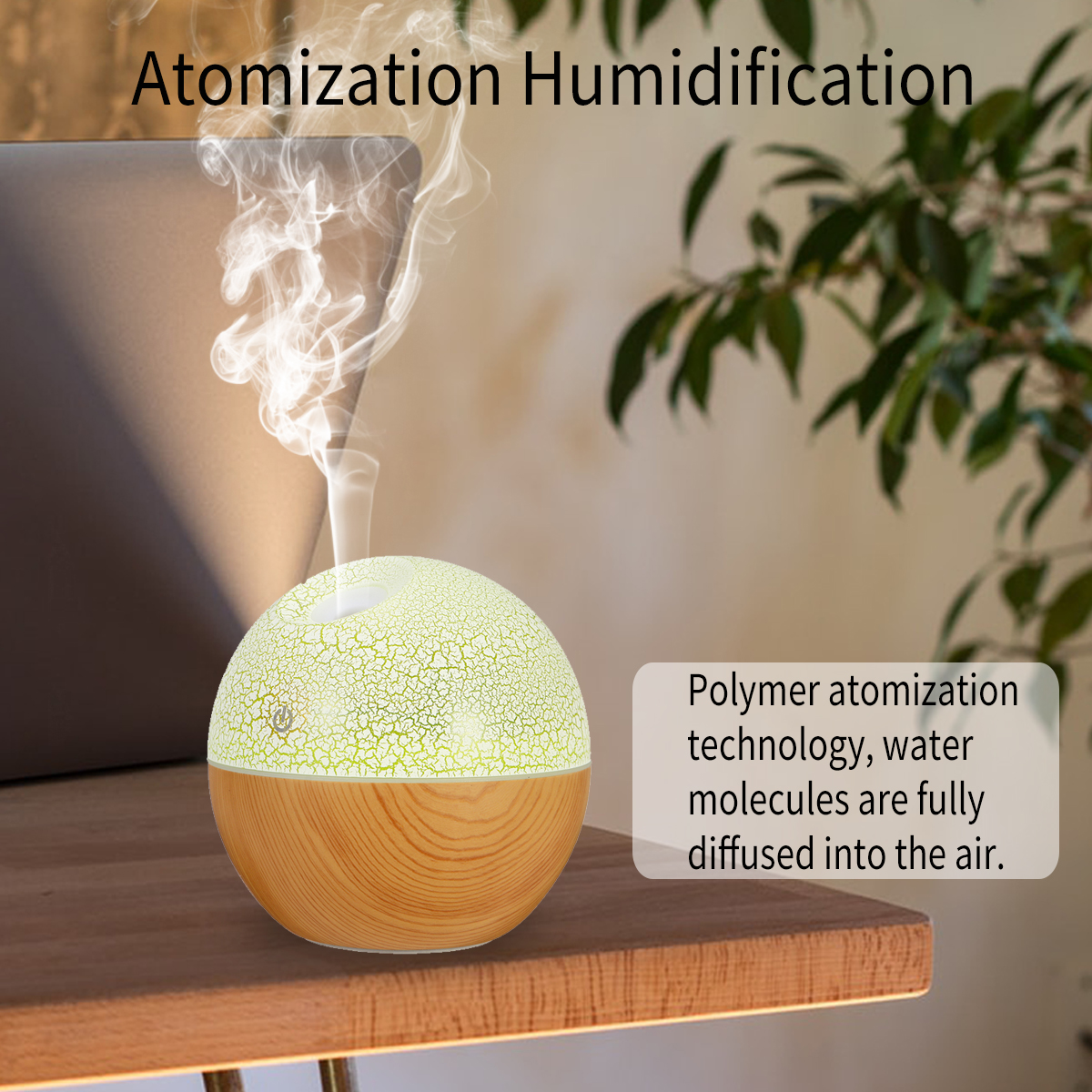 USB LED Aroma Ultrasonic Humidifier Essential Oil Diffuser