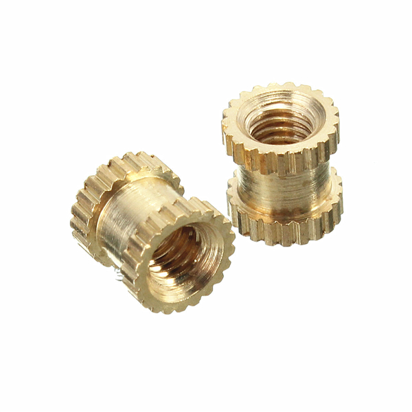 Suleve™ M3BN3 100pcs M3x4x5mm Metric Threaded Brass Knurl Round Insert Nuts