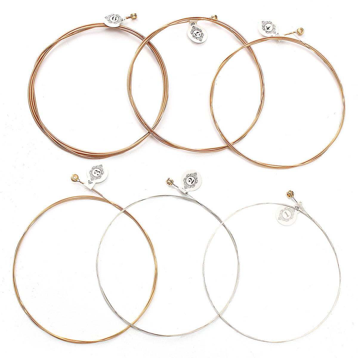 KIWI AKP12 Professional Acoustic Soft Guitar Strings 6pcs Set Coated Steel String Copper
