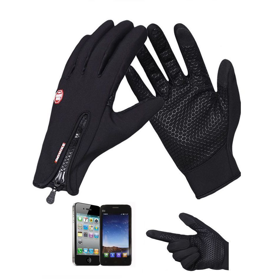 Touch Screen Windproof Motorcycle Sport Gloves For Unisex Male Female Winter Gloves