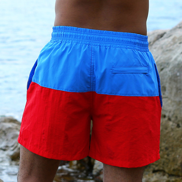 ESCATCH Casual Home Sport Running Quick Dry Splicing Color Beach Surf Board Shorts for Men