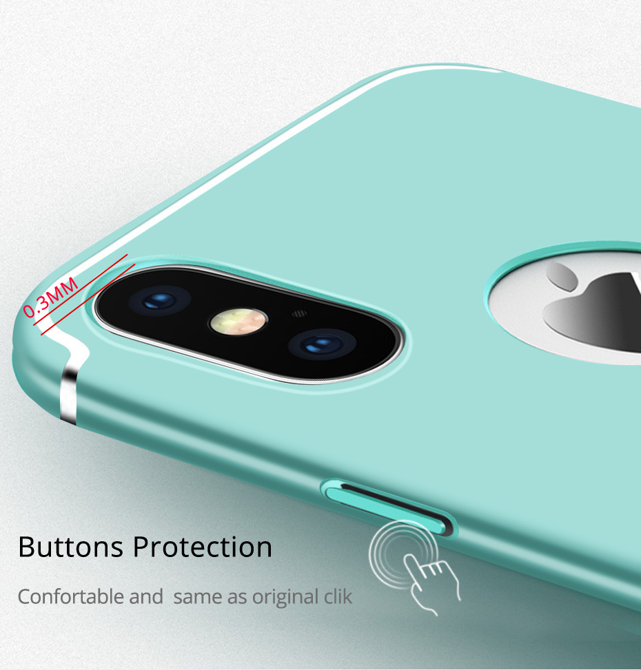 Slim Anti Fingerprint Hard PC Protective Case For iPhone X/8/8Plus/7/7 Plus/6/6s/6 Plus/6s Plus
