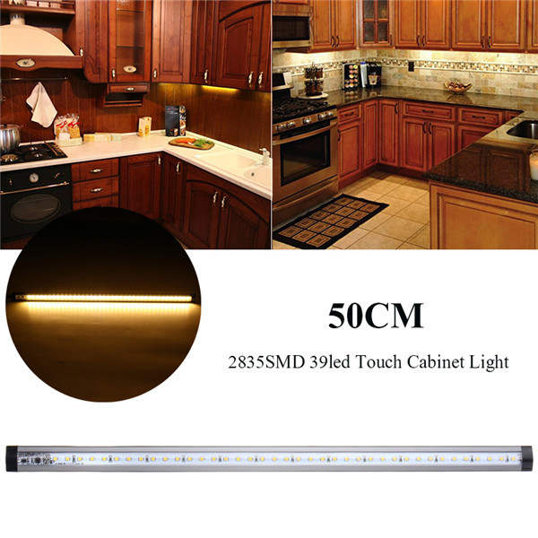 39 LED 50CM 2835 SMD Touch Dimming Control Warm White Light For Cabinet AC100-240V to DC 12V